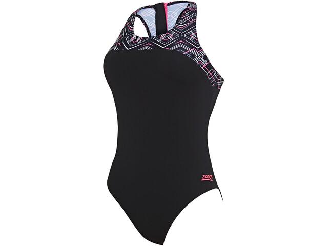 Zoggs Electric Kostium kąpielowy z zamkiem błyskawicznym z tyłu Kobiety, black/multi